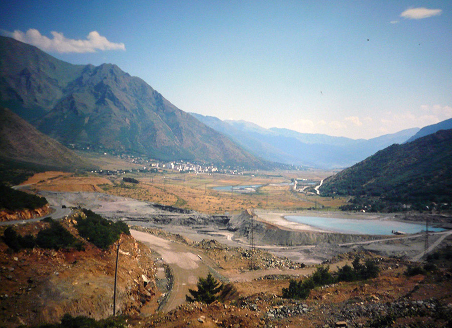 Entlang Der SH6, Plani I Bardhe, Albanien.