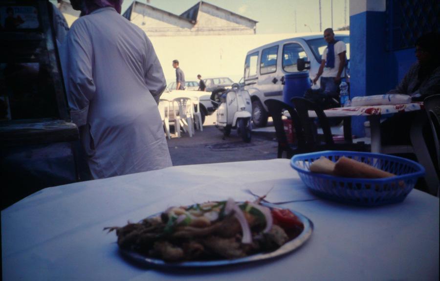 Fischrestaurant im alten Hafen.